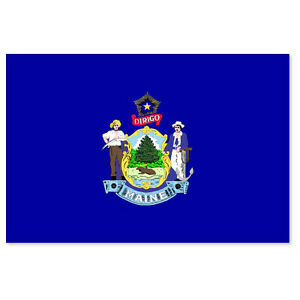 Maine-State-Flag-car-bumper-sticker-5-x-4
