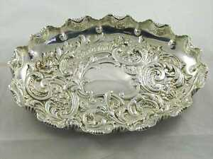 Antique-1896-Fluted-amp-Embossed-Silver-tray-Feast-for-the-eyes-By-Fenton-Bro-bat