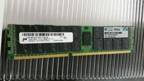 1X16GB 2RX4 PC3L-10600R MEMORY FOR G8 647901-B21 664692-001 647653-081 HP 16GB