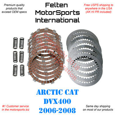 Arctic Cat DVX400 Clutch Kit Set Discs Disks Plates Springs DVX 400 Artic 06-08