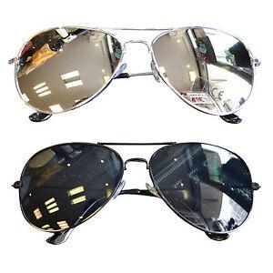 2 st ck sonnenbrille pilotenbrille damen herren verspiegelt pornobrille brillen ebay. Black Bedroom Furniture Sets. Home Design Ideas