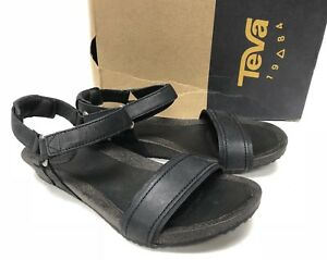 143a7f48a Teva Womens W Ysidro Stitch Sandal Black Leather Strappy Sizes US ...