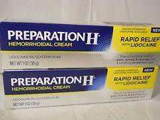 Preparation H Hemorrhoidal Cream Highest Strength w.Lidocaine (2PKS) exp 11-2018