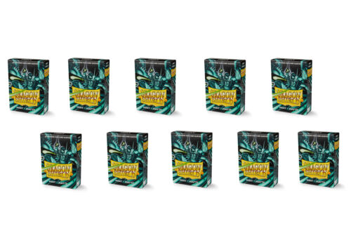 10 Packs Dragon Shield Matte Mini Japanese Mint 60 ct Card Sleeves Display Case