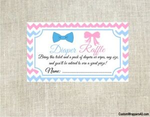 Baby-Shower-Bowtie-amp-Hair-Bows-Diaper-Raffle-Cards-Tickets-Party-Game-Favors