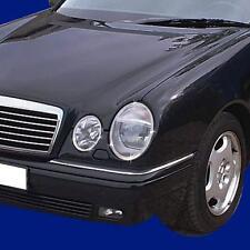 Chrom Scheinwerfer Rahmen FÜR Mercedes W210 E Klasse 4 teilig