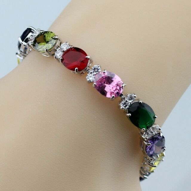 Jewellery & Watches Bracelets Ladies Silver Fashion Bracelet Pretty And Colorful