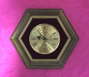 Seth Thomas Hexagon Quartz Wall Clock Roman Numeral