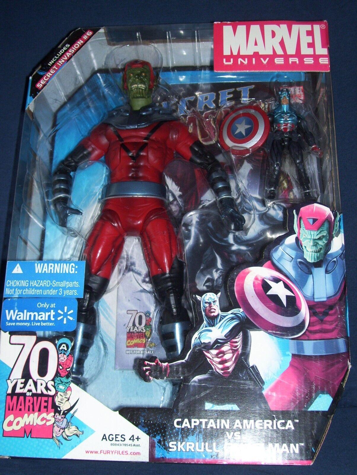 Marvel universo Capitán América Vs. Skrull Giant Man Walmart Exclusivos, Nuevos En Caja