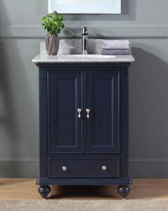 Details About 25 Gillian Small Narrow Powder Room Navy Blue Bathroom Vanity 9805nb