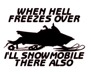 Sled wall decal Snow Life 8.25 Snowmobile window graphic