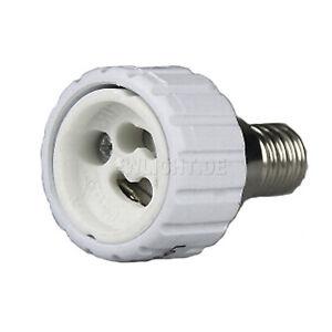 5 sockel adapter von e14 auf gu10 lichtadapter adaptersockel lampen lampensockel ebay. Black Bedroom Furniture Sets. Home Design Ideas