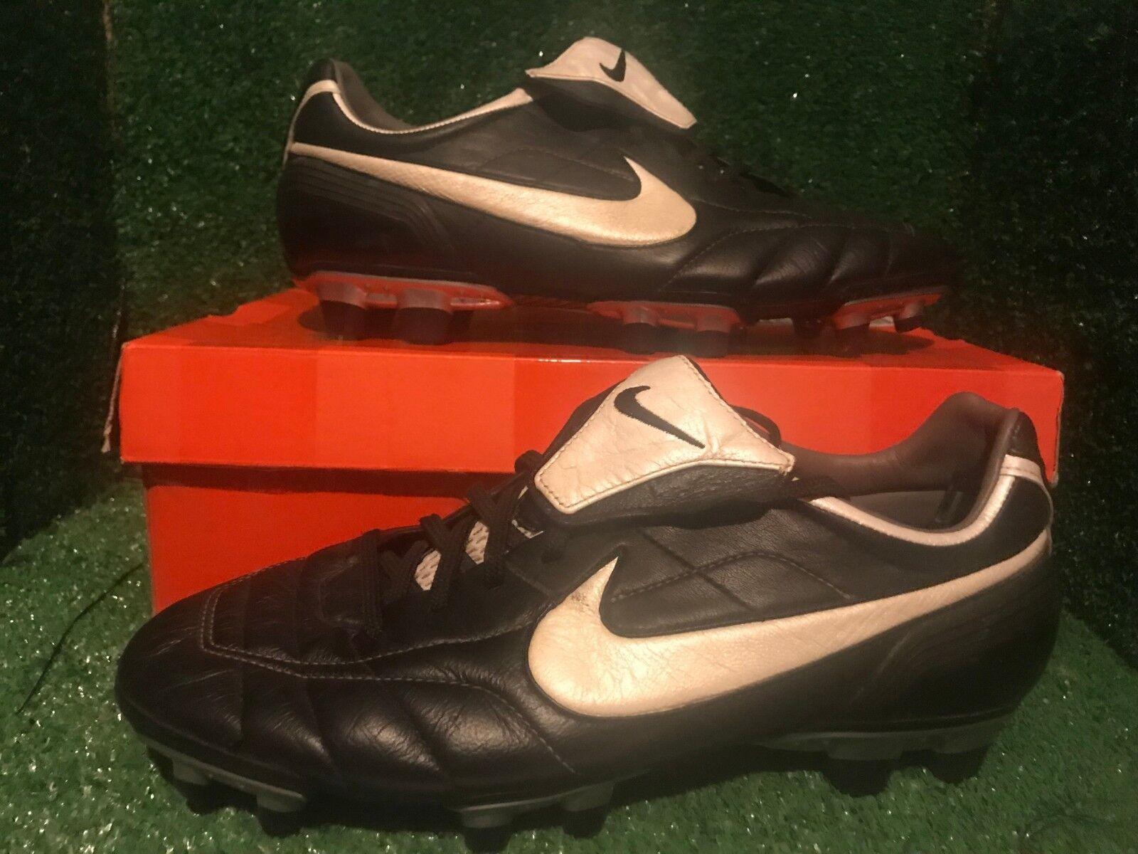Nike tiempo R10 Ronaldinho oro T90 CTR360 Zapatos Deportivos De Fútbol Raro 9 8 42,5
