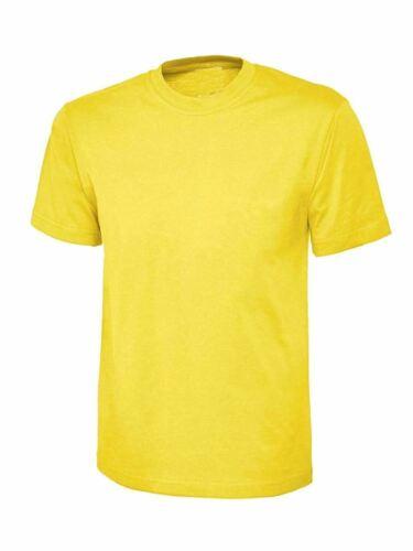 Adults Short Sleeve Round Neck Plain Shirt Girls Boys Summer Sports Wear Top