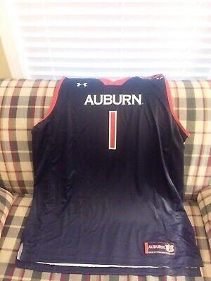 Nwt Men S Under Armour Auburn Tigers 1 Basketball Jersey Navy Size Xxlarge Ebay