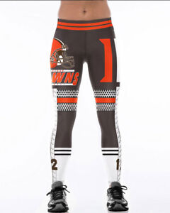 76a82fcb Details about Wide belt legging Cleveland Browns No.12 High waist legging  S-4XL Legging