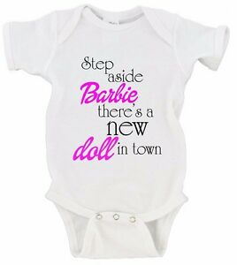 Baby Girl Barbie Step Aside Ruffle Onesie Baby Girl Clothes