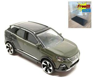 Majorette-Peugeot-3008-GT-Dark-Green-1-61-205L-no-Package-Free-Display-Box