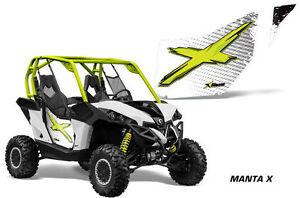 AMR Racing Can-Am Commander//Mave UTV Door Graphics Wrap for CanAm OEM Doors 2 YD