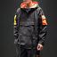 Hip-Hop-Hooded-Patchwork-Mens-Jacket-Coat-Bomber-Street-Wear-Loose-Fit-New-Ths01 thumbnail 2