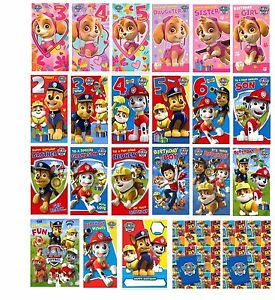 Image Is Loading PAW PATROL Birthday Greetings Cards Gift Wrap Money