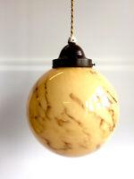 Kuglelampe, Loftlampe af marmoreret glas, med