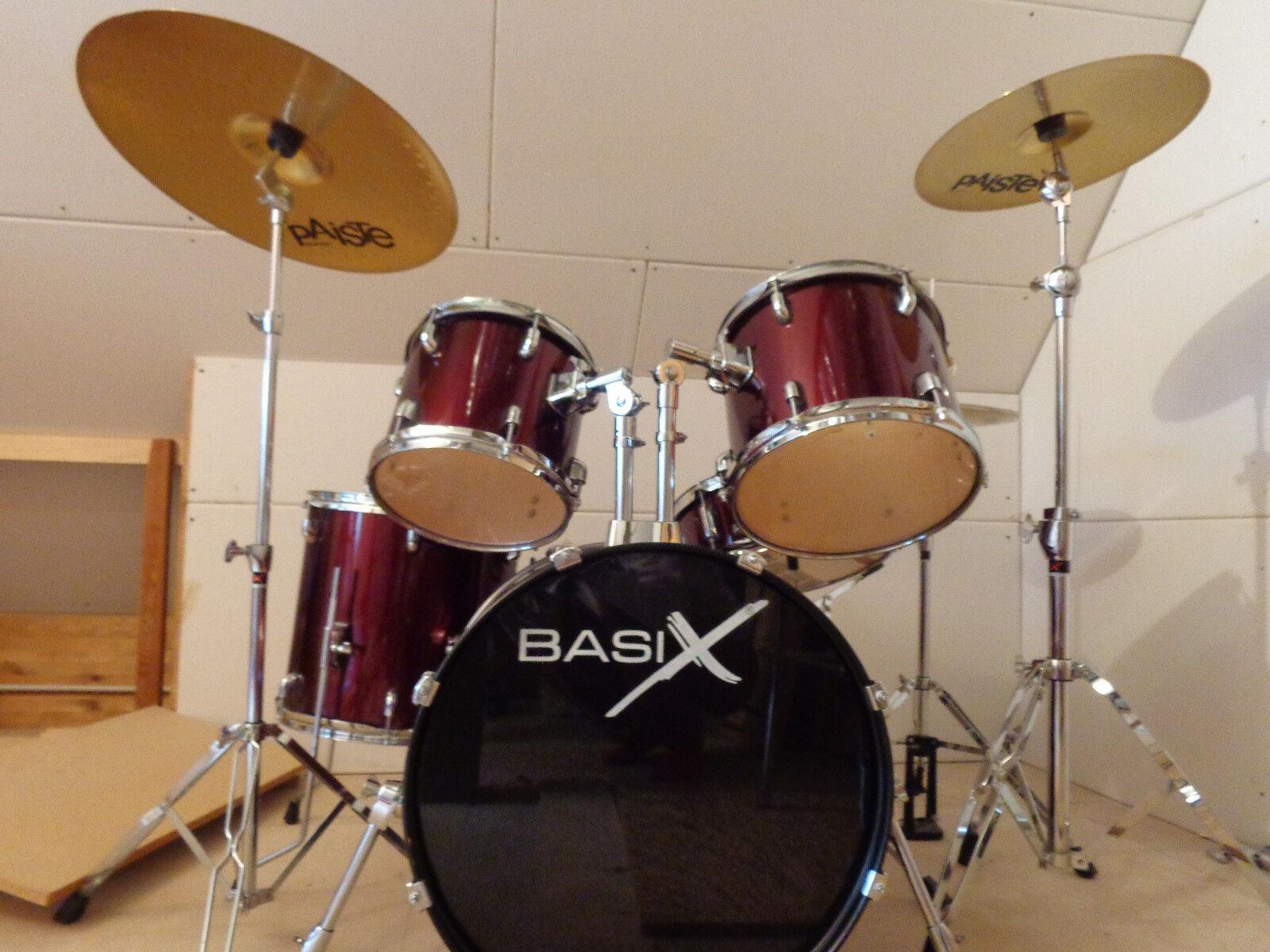 Schlagzeug ( Weinrot) BasiX -Top-Zustand