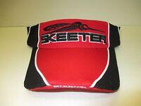 Authentic Skeeter Red/black Visor Skeeter Boats Skeeter/eat.sleep.fish. Logo