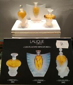 Lalique-parfumes-034-Les-flacons-Miniatures-034-Sirenes-Sylphide-Les-Elfes