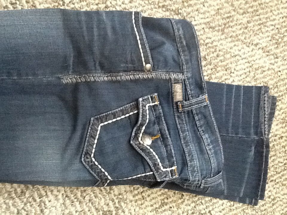 Cruel Girl Jeans, starched.  5 long, Lindsay