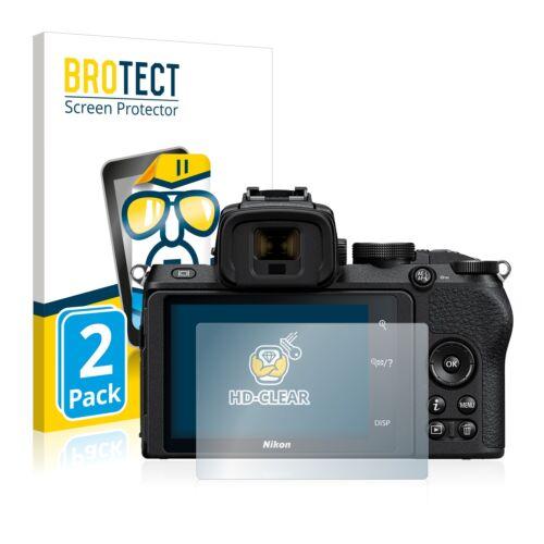 2x protector pantalla lámina claramente Nikon Z 50 recubrimiento protector protector de pantalla