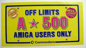 Comodore-c64-OF-LIMITS-AMIGA-500-Aufkleber-Original-80er-Jahre-Sammlerstueck