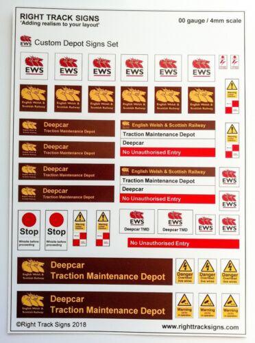 TMD 00 gauge EWS Depot Signs motive depot with YOUR DEPOT NAME diesel depot