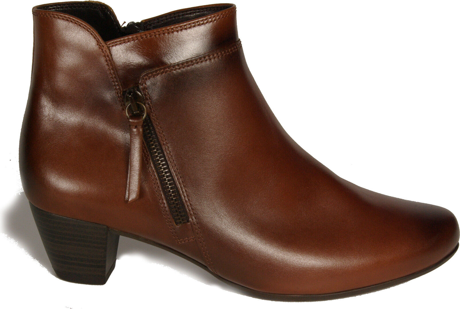Gabor shoes Ankle Boots Brown Real Leather G Width NEW