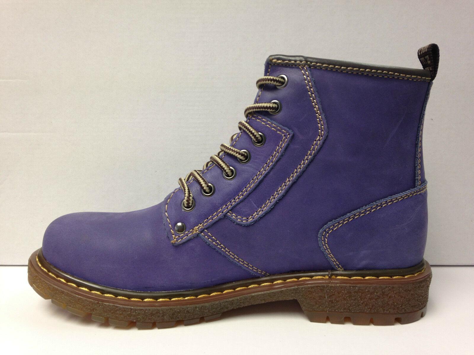 Boot ~ Cotswold ~ Donna / Signore Stringati In Pelle Boot ~ Firenze ~ Viola (387)