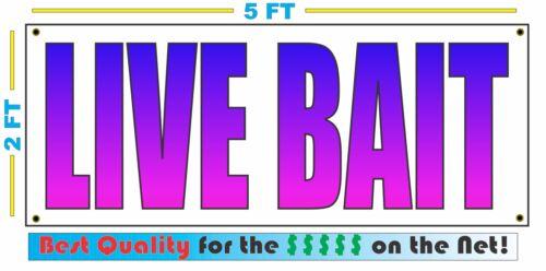LIVE BAIT Blue Fade Full Color Banner Sign