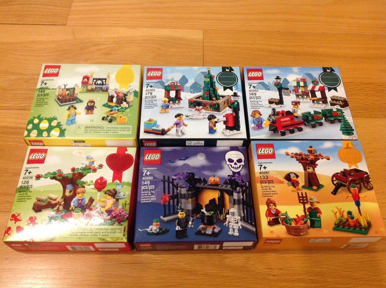 Lego Holiday Seasonal Sets (40236, 40237, 40260, 40261, 40262, 40263)