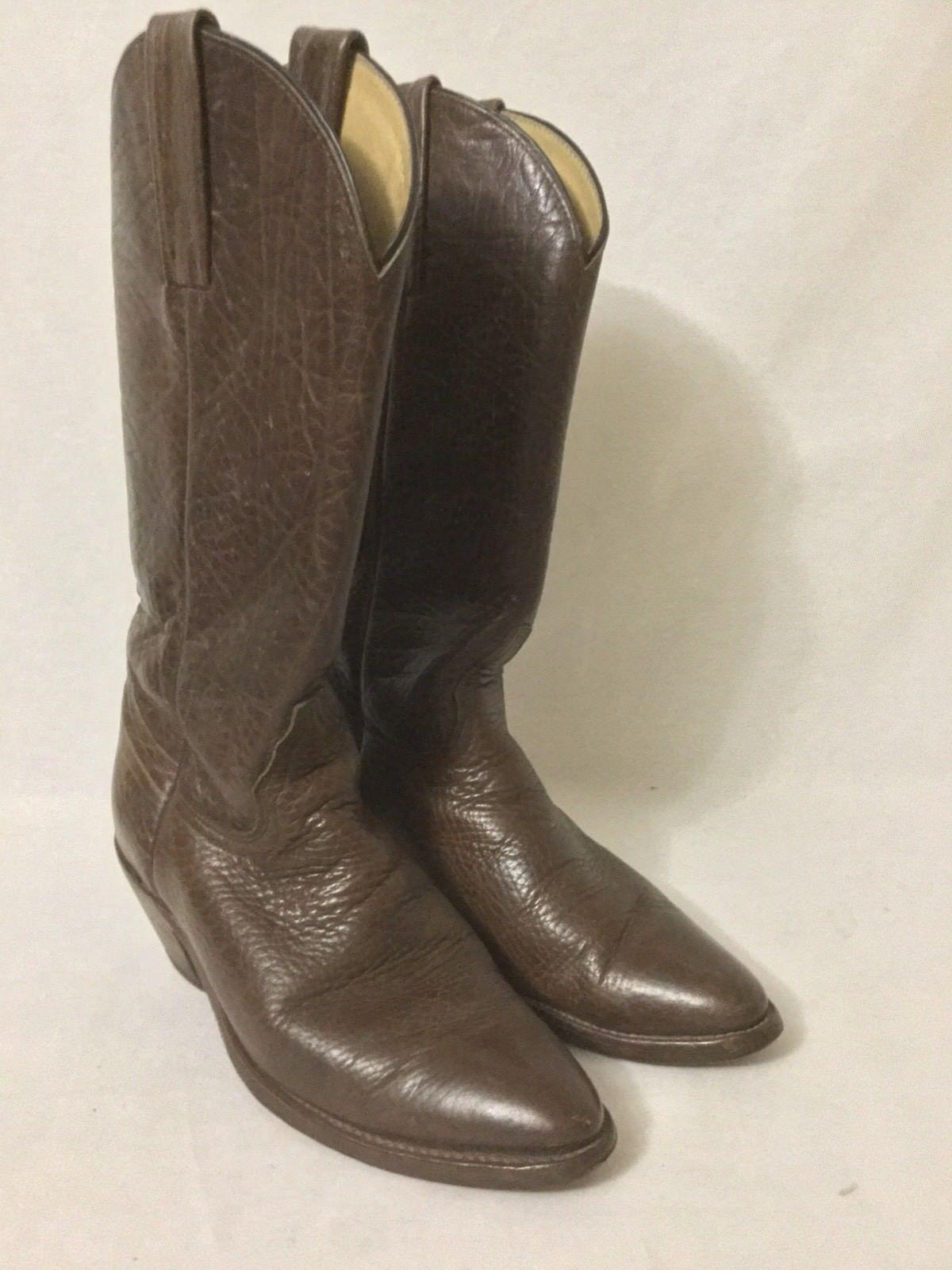 Vintage frye brown cowboy western stivali Uomo boot boot Uomo scorpe 7 d 9c1d73