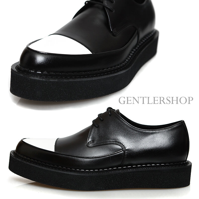 Mens Fashion Handmade Leather Contrast color Blown Sole Creepers 1067, GENTLER