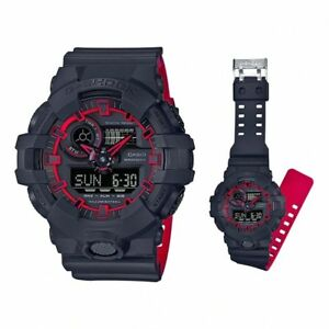 Casio-G-Shock-Mens-Wrist-Watch-GA700SE-1A4-GA-700SE-1A4-Black-Red