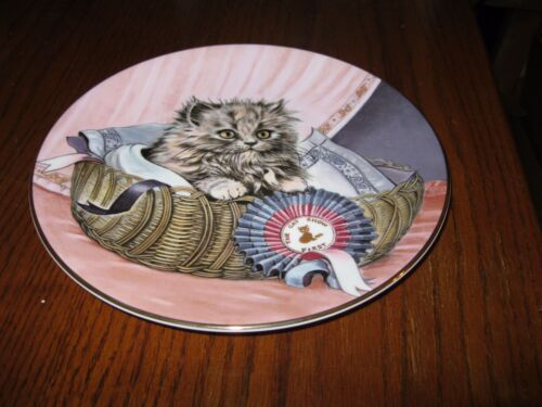 """First Prize"" 8th issue in the Kitten Classics Plate Collection"