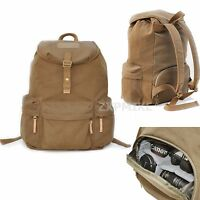 Waterproof Canvas Backpack Rucksack DSLR SLR Camera Bag For Canon Sony Nikon