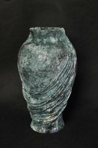 Design Blumen Topf Dekoration XXL Vase Vasen Handarbeit Deko Kelch Pokal 0855