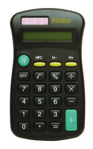 HELIX-SMALL-8-DIGIT-DISPLAY-MINI-POCKET-SIZE-CALCULATOR-for-Home-School-Office