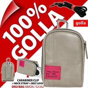 Golla-Universell-Kompaktkamera-Tasche-Grau-fuer-Canon-Sony-Fuji-Samsung