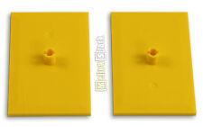 2x LEGO® 4025 Eisenbahn Dreh-Platte gelb yellow train bogie plate NEU