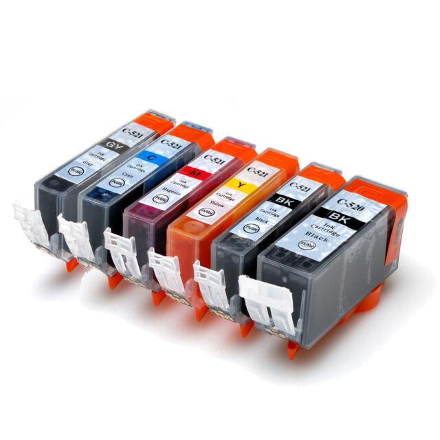 24 Compatible PGI 520BK/CLI 521/C/M/Y for Canon Pixma MX870 Ink Cartridge w/Chip