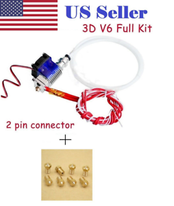 All-Metal-V6-Bowden-Hotend-J-head-extruder-8PCS-Nozzles-3D-printer-parts-Reprap