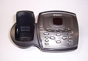 uniden tru9480 2 5 8 ghz cordless phone main base for tru9460 rh ebay com Uniden Bearcat Scanner Manual Uniden Surveillance System Install