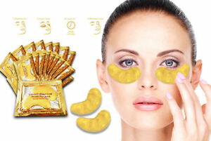 Anti-Aging & Wrinkle Care 24k Gold Collagen Eye Patch Pads For Women Deep Skin Nutrition Ion Lead-In Facial Care Cleansing Massager
